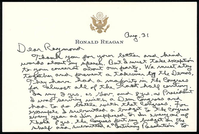Sale 61 chapter 9 lot 152 ronald reagan bookmarktalkfo Choice Image